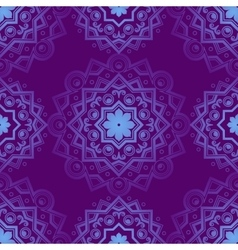 Blue Indian Vintage Ornament Blue mandala vector image