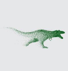 blurred motion of tyrannosaur vector image