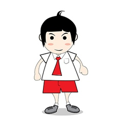 boy student red vector image