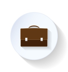 Briefcase flat icons vector image