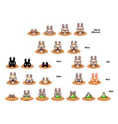 bunny game sprites vector image