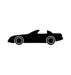 Car black color icon vector