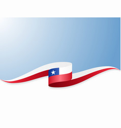 Chilean flag wavy abstract background vector