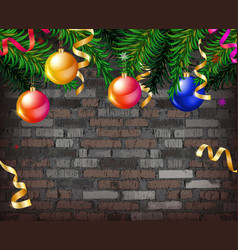 christmas balls on garland vector image