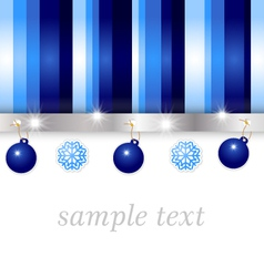 Christmas blue greeting card vector
