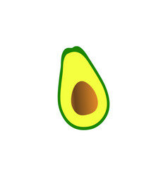 clean of avocado fruit element design template vector image