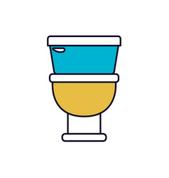 color sections silhouette of toilet icon in front vector image