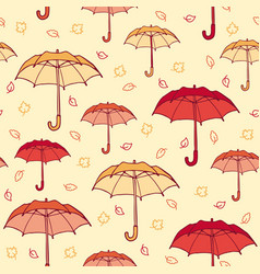 Colorful hand drawn autumn seamless pattern vector