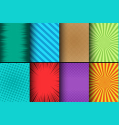 comic colorful cards set vector image