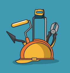 construction tools equipment vector image