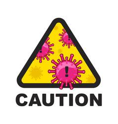 corona virus 2019-ncov novel coronavirus caution vector image