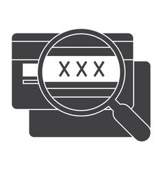 Cvv code icon vector