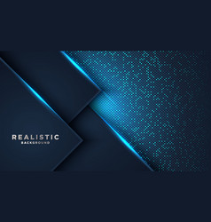 Dark abstract background with blue overlap vector