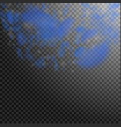 Dark blue flower petals falling down fantastic ro vector