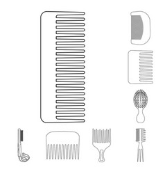 design of brush and hair icon collection vector image