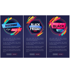 Discount black friday web page vector