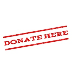 Donate Here Watermark Stamp vector