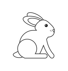 easter bunny cute symbol thin line vector image