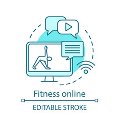 fitness online concept icon vector image