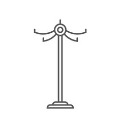 Floor clothes hanger isolated icon in linear style vector
