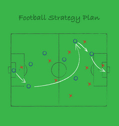 Football strategy background vector