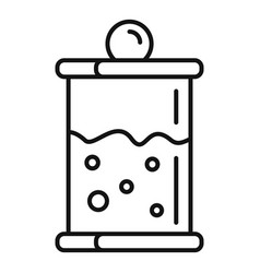 french press icon outline style vector image