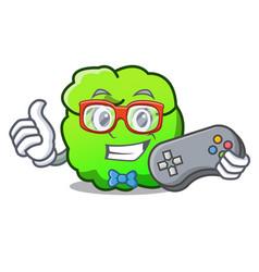 Gamer shrub mascot cartoon style vector
