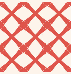 geometric grid background abstract red and white vector image
