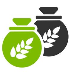 Grain harvest sacks flat icon vector