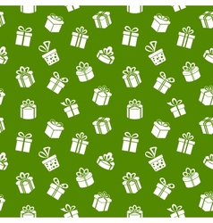 Green Gift Pattern vector image