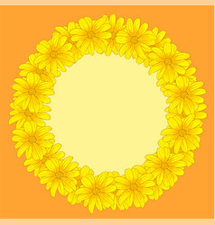 greeting invitation cards with yellow flowers vector image