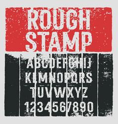 grunge alphabet 005 vector image