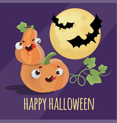 halloween action holiday cartoon set vector image