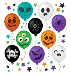 Halloween balloons theme set 1 vector