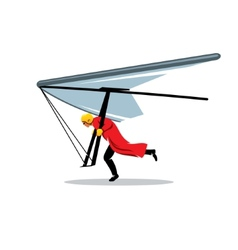 Hang gliding sign vector