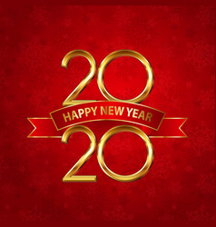happy new year background with gold numbers and vector image