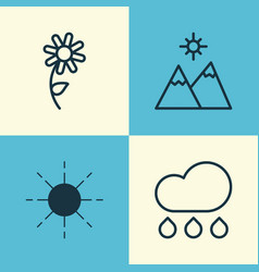 Harmony icons set collection of sunflower vector