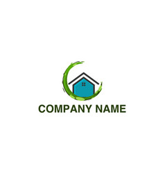 house eco home logo inspiration isolated on white vector image