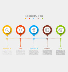 infographic design business modern vector image