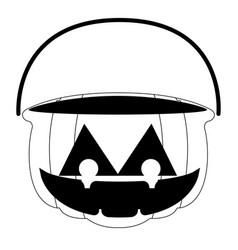 isolated empty jack-o-lantern for candies vector image
