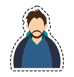 Isolated man with winter jacket design vector