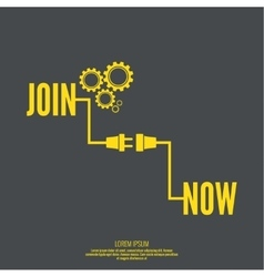Join Us sign vector image