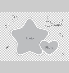 kids photo frames template amazing montages vector image