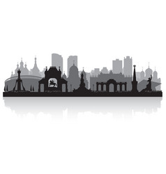 Krasnodar russia city skyline silhouette vector