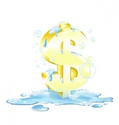 Laundering of money vector