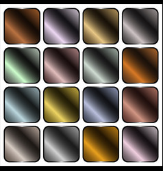 metal gradients vector image