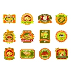 Mexican Food Emblem Set vector