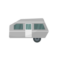 Modern camp trailer icon flat style vector