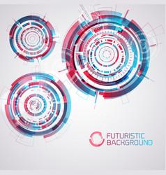 Modern futuristic circles set vector