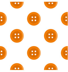Orange sewing button pattern flat vector
